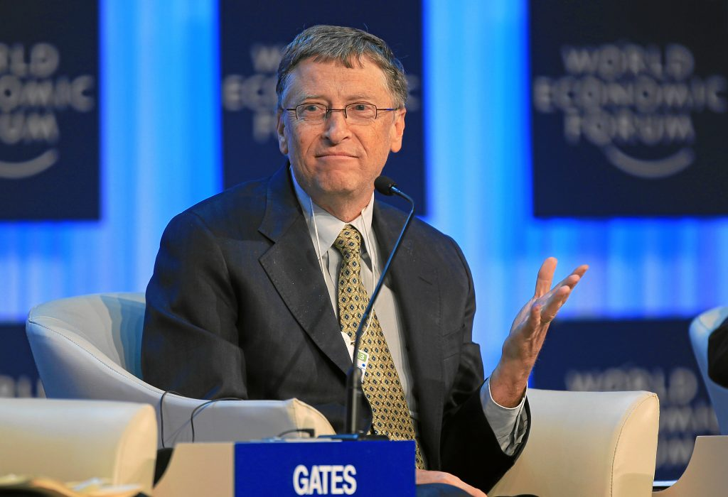 Bill Gates talking