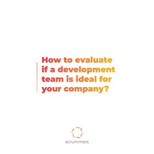 """image with text """"How to evaluate if a development team is ideal for your company? """""""